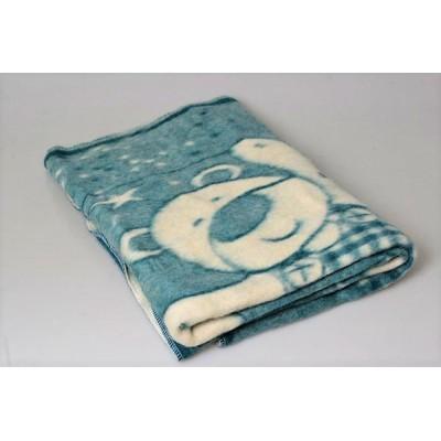 Одеяло шерстяное бирюза 85%шерсть, 15%ПЕ