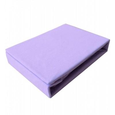 Простынь на резинке трикотажная (PT сиреневая)